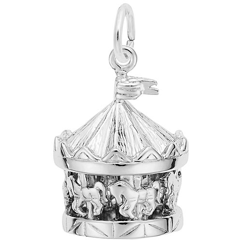 Rembrandt Carousel Charm, Sterling Silver