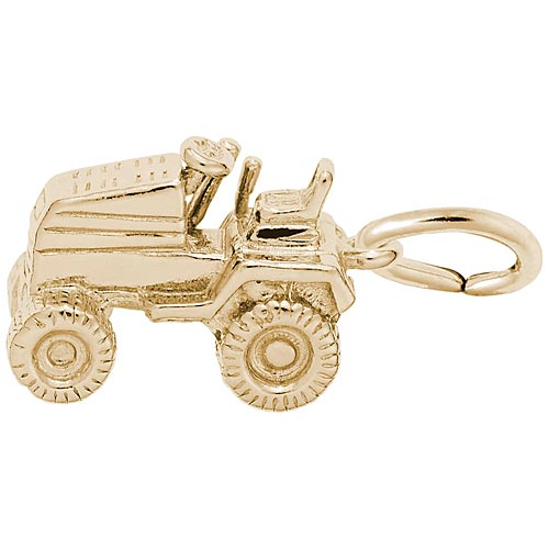 14K Gold Riding Lawn Mower Charm by Rembrandt Charms