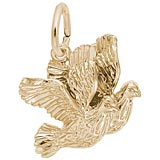 Gold Plated Turtle Doves Bird Charm by Rembrandt Charms