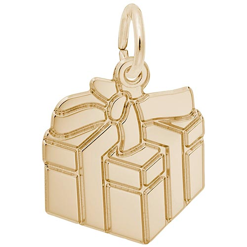 Gold Plated Gift Box Charm by Rembrandt Charms