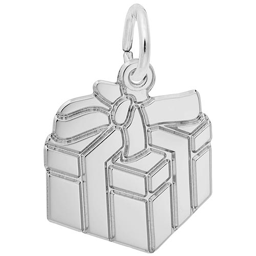 Sterling Silver Gift Box Charm by Rembrandt Charms