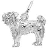 14K White Gold Pug Dog Charm by Rembrandt Charms