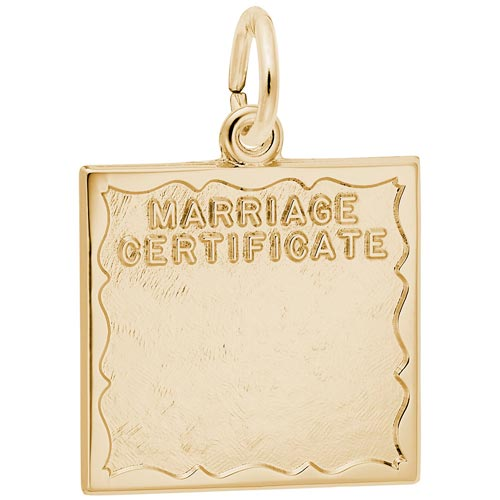 14k Gold Marriage Certificate Charm by Rembrandt Charms