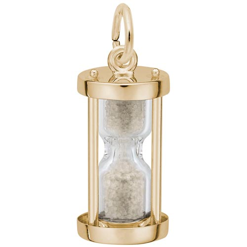 10K Gold Hourglass Charm by Rembrandt Charms