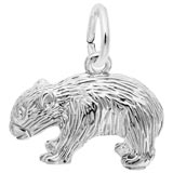 14K White Gold Wombat Charm by Rembrandt Charms