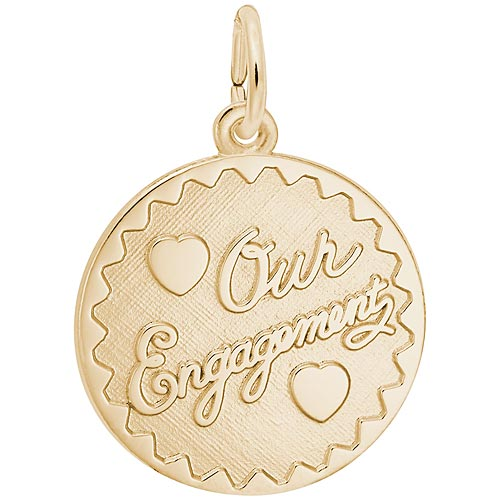 14K Gold Our Engagement Charm by Rembrandt Charms