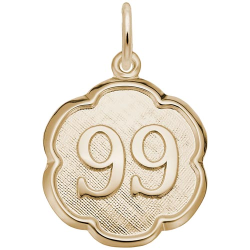 Gold Plate Any Number Disc 1-99 Charm by Rembrandt Charms