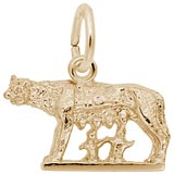 14K Gold Romulus and Remus Charm by Rembrandt Charms