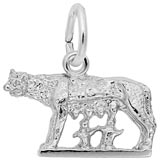 14K White Gold Romulus and Remus Charm by Rembrandt Charms