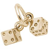 10K Gold Dice Accent Charm by Rembrandt Charms