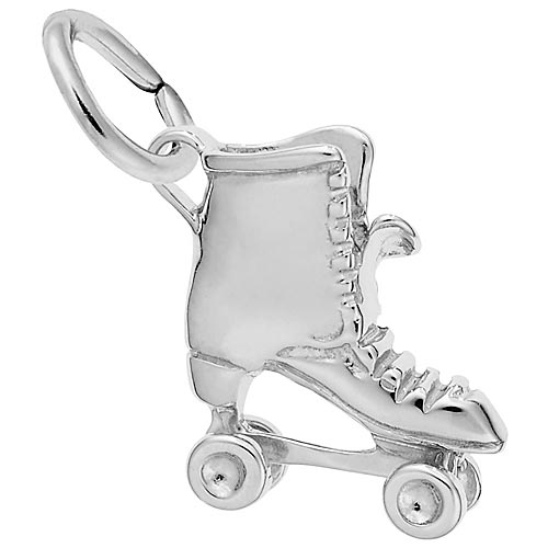 Sterling Silver Roller Skate Charm by Rembrandt Charms