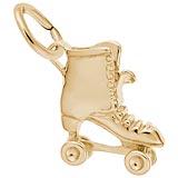 Rembrandt Roller Skate Charm, Gold Plate