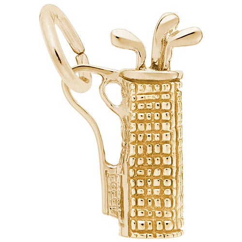 10K Gold Plaid Golf Bag Charm by Rembrandt Charms