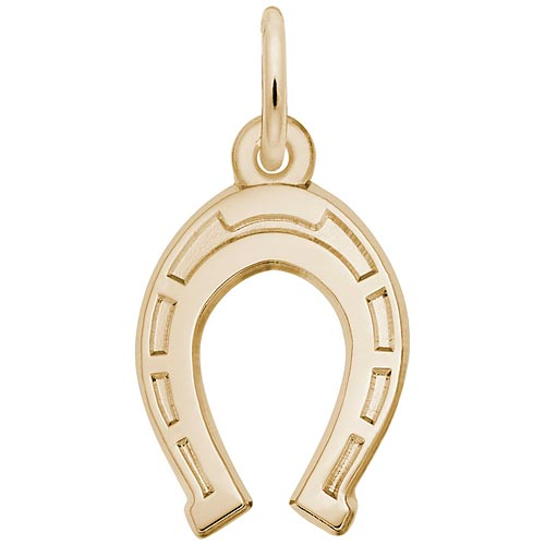 10K Gold Lucky Horseshoe Charm by Rembrandt Charms
