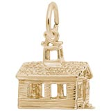 Gold Plate School House Charm by Rembrandt Charms
