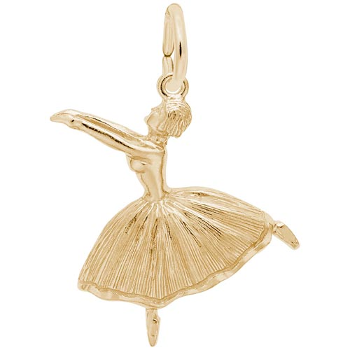 14K Gold Ballet Dancer with Skirt Charm by Rembrandt Charms