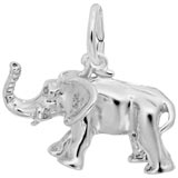 14K White Gold African Elephant Charm by Rembrandt Charms