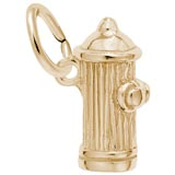 10K Gold Fire Hydrant Accent Charm by Rembrandt Charms