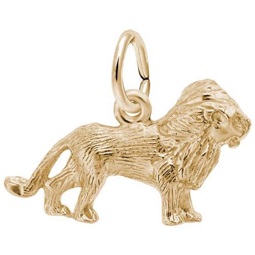 14K Gold Lion Accent Charm by Rembrandt Charms