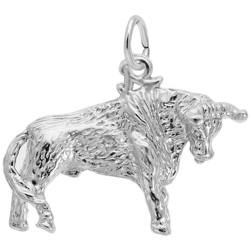 Sterling Silver Bull Charm by Rembrandt Charms