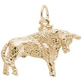 Gold Plated Bull Charm by Rembrandt Charms