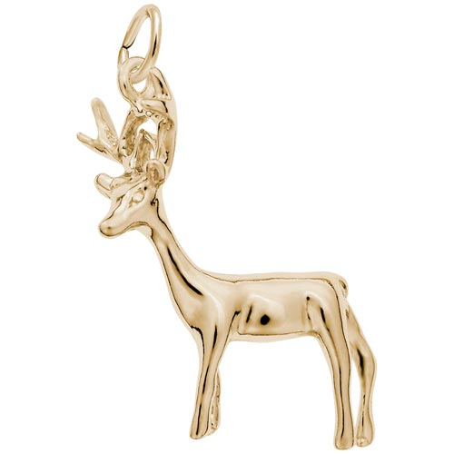 Gold Plated Buck Deer Charm by Rembrandt Charms