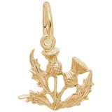 Gold Plate Thistle Charm by Rembrandt Charms