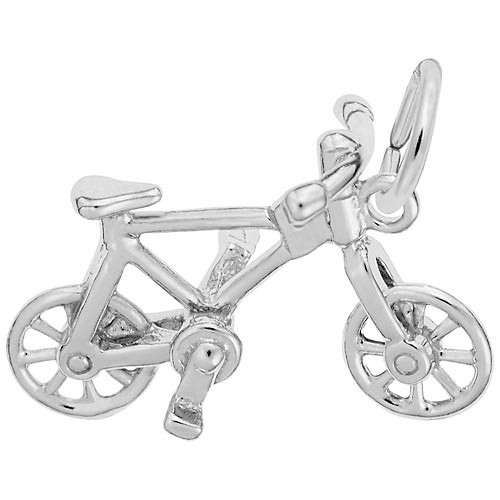 14K White Gold Bicycle Charm by Rembrandt Charms