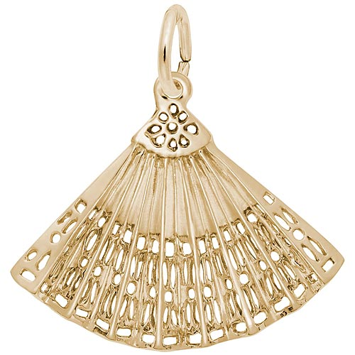 10K Gold Hand Fan Charm by Rembrandt Charms