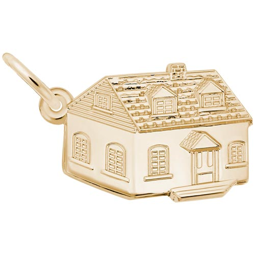 10K Gold Colonial House Charm by Rembrandt Charms