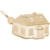 14K Gold Colonial House Charm by Rembrandt Charms