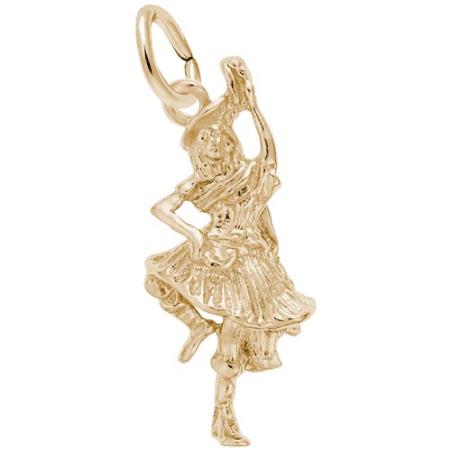 10K Gold Highland Dancer Charm by Rembrandt Charms