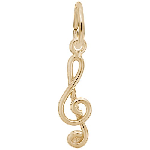 Gold Plated Treble Clef Accent Charm by Rembrandt Charms