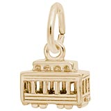 14K Gold Cable Car Accent Charm by Rembrandt Charms