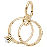 Gold Plated Wedding Rings Charm by Rembrandt Charms