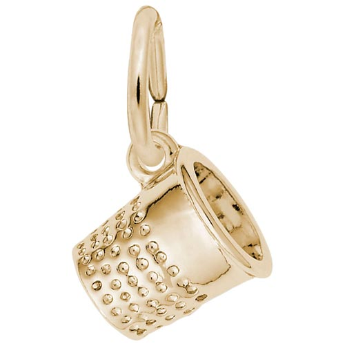 Gold Plate Thimble Accent Charm by Rembrandt Charms