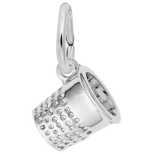Sterling Silver Thimble Accent Charm by Rembrandt Charms