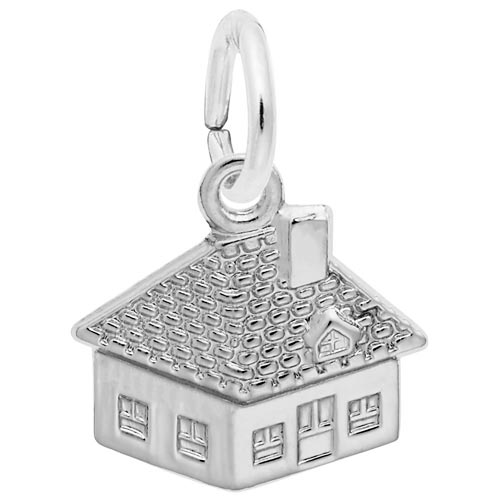 14K White Gold House Accent Charm by Rembrandt Charms