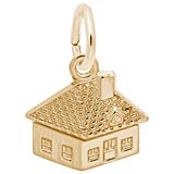 Gold Plated House Accent Charm by Rembrandt Charms