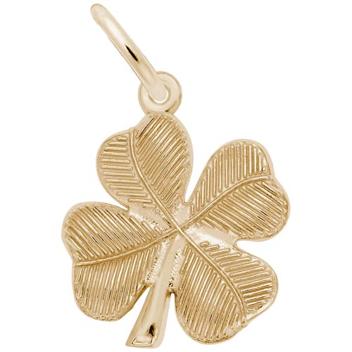 14K Gold Four Leaf Clover Charm by Rembrandt Charms