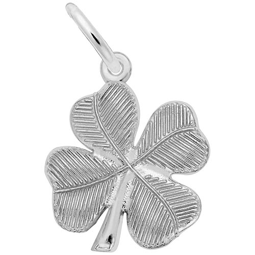 14K White Gold Four Leaf Clover Charm by Rembrandt Charms