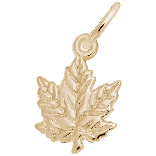 Gold Plate Maple Leaf Charm by Rembrandt Charms