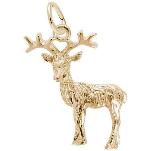 10K Gold Reindeer Charm by Rembrandt Charms