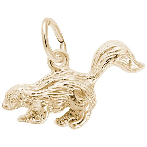 10K Gold Skunk Charm by Rembrandt Charms