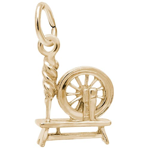 14K Gold Spinning Wheel Charm by Rembrandt Charms