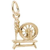 Rembrandt Spinning Wheel Charm, Gold Plate