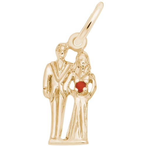 10K Gold Bride and Groom Accent Charm by Rembrandt Charms