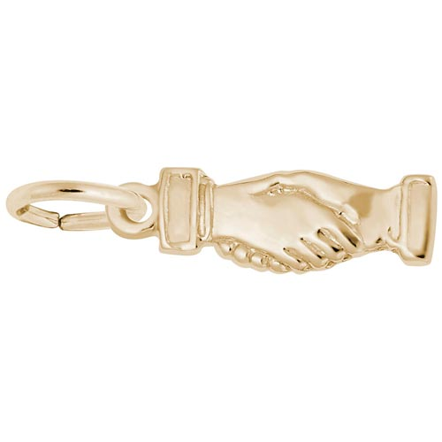 Gold Plate Handshake Charm by Rembrandt Charms