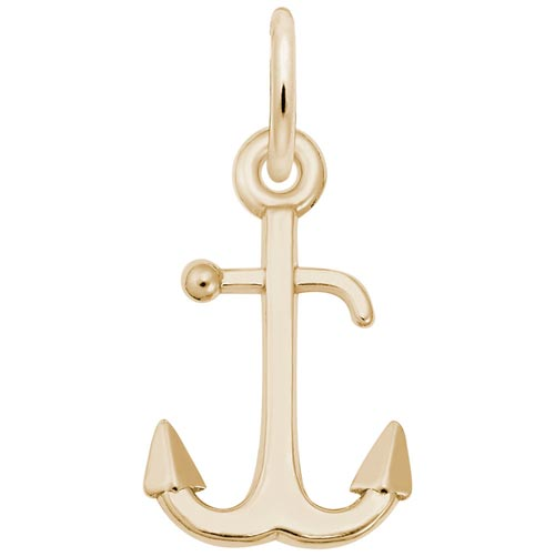 10K Gold Anchor Accent Charm by Rembrandt Charms