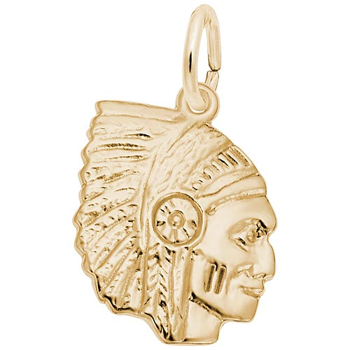 10K Gold Native American Charm by Rembrandt Charms